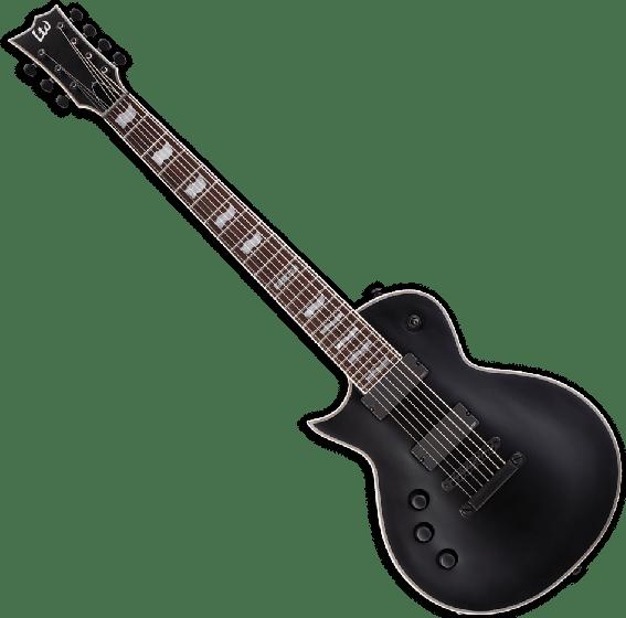 ESP LTD EC-407 7 Strings Left Handed Electric Guitar in Black Satin LEC407BLKSLH