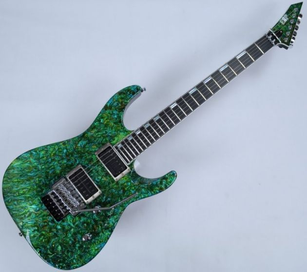 ESP M-II 2016 Exhibition Japan Custom Shop Guitar in Liquid JEM Green Finish EX1617MII