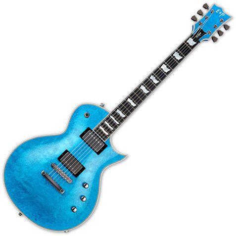 ESP Eclipse Custom Electric Guitar Blue Liquid Metal EECCTMBLM