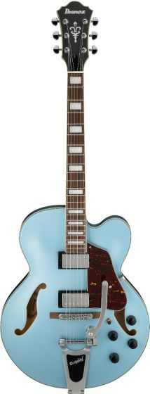 Ibanez AFS75T STF AFS Artcore 6 String Steel Blue Flat Semi Hollow Body Electric Guitar sku number AFS75TSTF