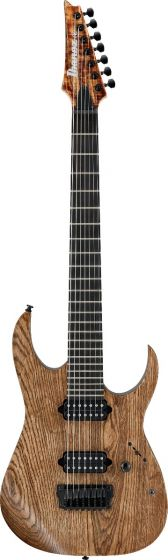 """Ibanez RGIXL7 ABL RG Iron Label 7 String 27"""" scale Antique Brown Stained Low Gloss Electric Guitar sku number RGIXL7ABL"""