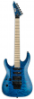 ESP LTD MH-203QM Left Handed See Thru Blue Electric Guitar sku number LMH203QMSTBLH
