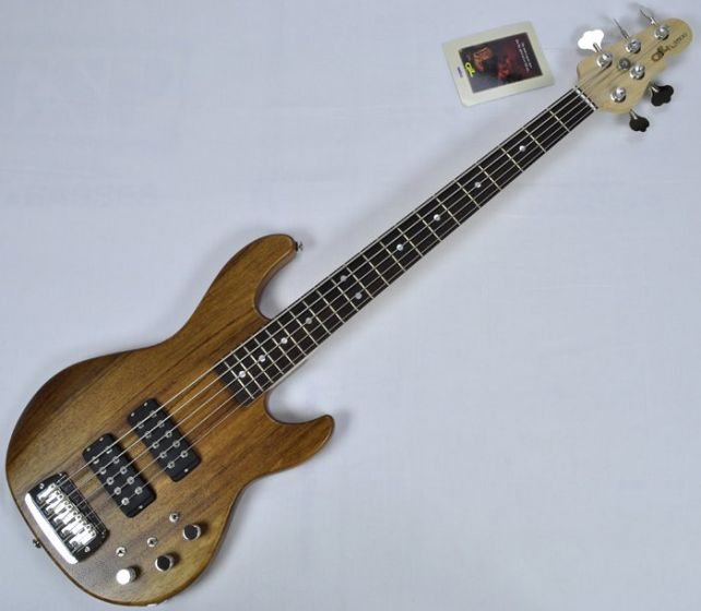 G&L L-2500 USA Monkey Pod Bass in natural satin finish 110041