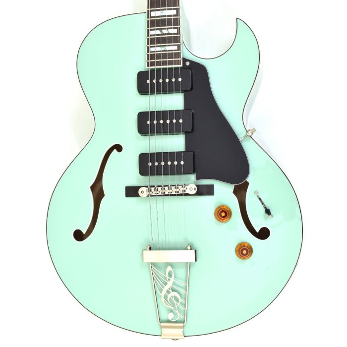Dean Palomino Hollow Body Electric Guitar Sea Green Las Vegas Guitar