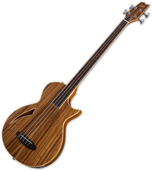 ESP LTD TL-4Z Fretless Semi-Hollow Electric Bass Natural Gloss LTL4ZFLNAT