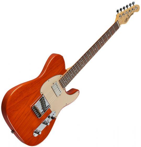 G&L ASAT Classic Bluesboy USA Fullerton Deluxe in Clear Orange Rosewood sku number FD-ASTCB-ORG-CR