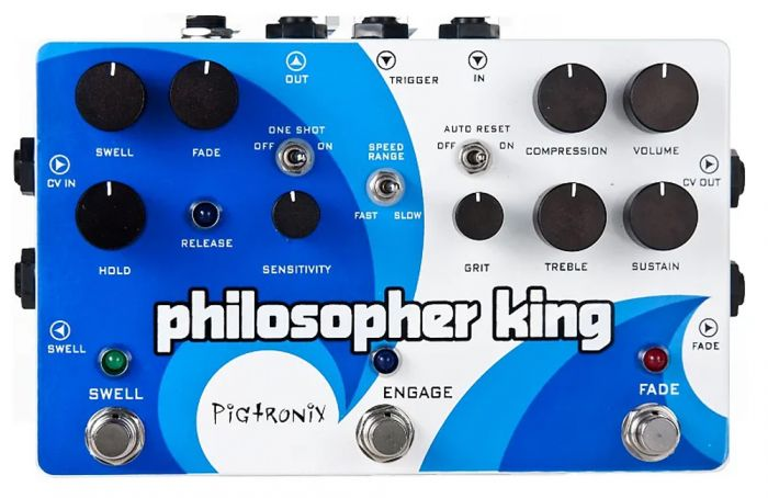 Pigtronix Philosopher King Envelope Generator Sustainer Guitar Pedal EGC