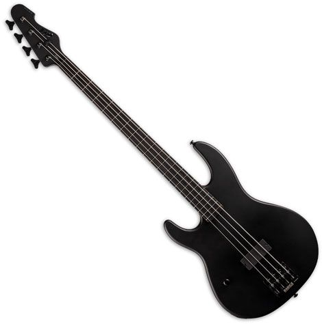 ESP LTD AP-4 Black Metal Left Handed Electric Bass Black Satin LAP4BKMBLKSLH