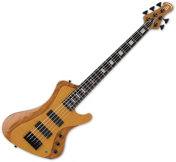 ESP LTD Stream-1005 Flamed Maple 5 String Electric Bass Honey Natural B Stock sku number LSTREAM1005FMHN.B