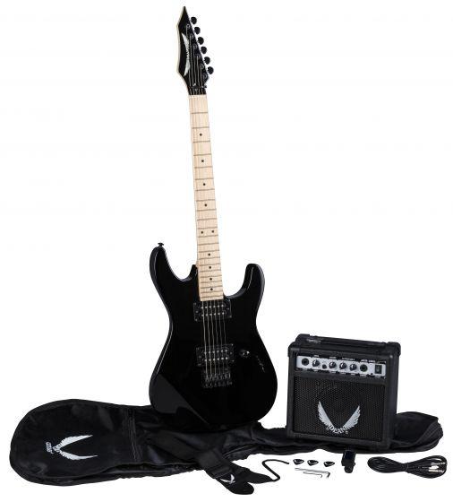 Dean Custom Zone Electric Guitar Pack CBK w/Amp CZONE CBK PK CZONE CBK PK