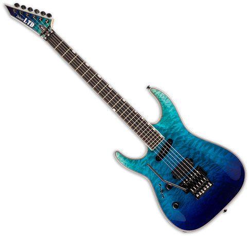 ESP LTD MH-1000HS Left-Handed Electric Guitar Violet Shadow Fade LMH1000HSQMVSHFDLH