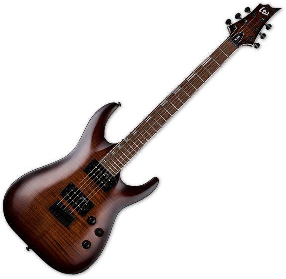 ESP LTD H-200FM Electric Guitar Dark Brown Sunburst LH200FMDBSB