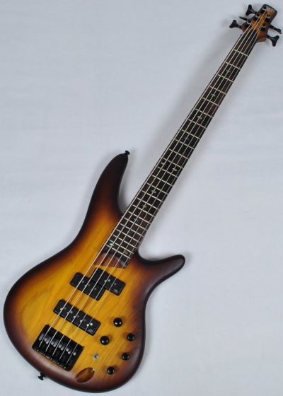 Ibanez SR655-BBF SR Series 5 String Electric Bass in Brown Burst Flat Finish SR655BBF