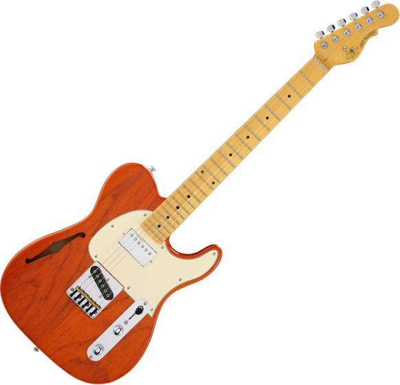 G&L Tribute ASAT Classic Bluesboy Semi-Hollow Electric Guitar Clear Orange TI-ACB-S24R44M73