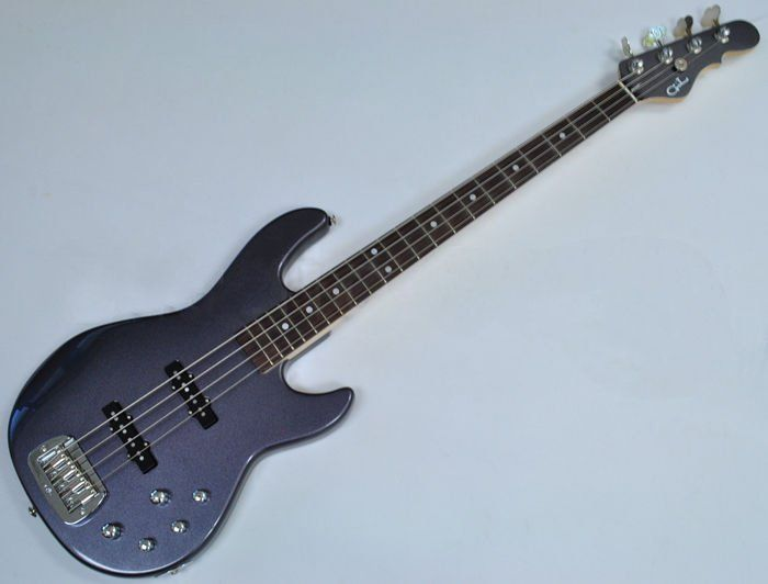 G&L MJ-4 USA Custom Made Electric Bass in Graphite Metallic 107781