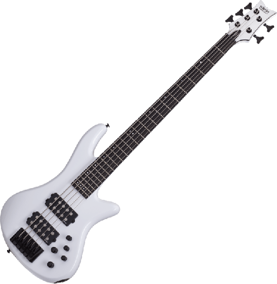 Schecter Stiletto Stage-5 Electric Bass Gloss White SCHECTER2482