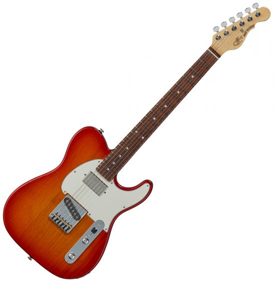 G&L ASAT Classic Bluesboy USA Fullerton Deluxe in Cherry Burst Rosewood sku number FD-ASTCB-CHY-CR