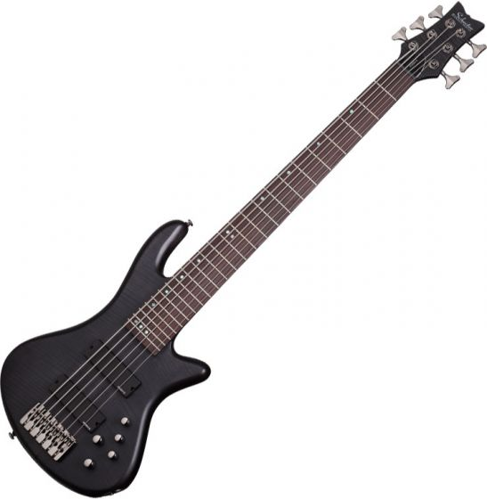 Schecter Stiletto Studio-6 Electric Bass See-Thru Black Satin SCHECTER2731