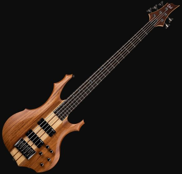 ESP LTD F-5E Bass Guitar in Natural Stain Finish sku number LF5ENS