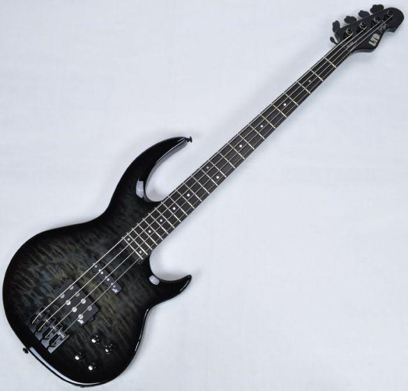 ESP LTD BB-1004QM Bunny Brunel Electric Bass in See Thru Black sku number LBB1004QMSTBLKSB
