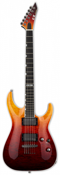 ESP E-II Horizon NT-II Tiger Eye Amber Fade Electric Guitar w/Case EIIHORNTIITEAFD