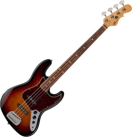 G&L Fullerton Deluxe JB Electric Bass 3-Tone Sunburst FD-JB-3TS-CR