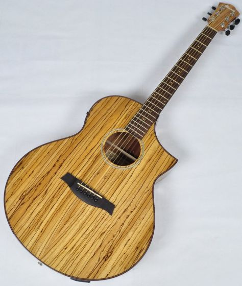 Ibanez AEW40ZW-NT AEW Series Acoustic Electric Guitar in Natural High Gloss Finish AEW40ZWNT