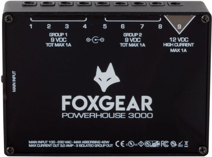 FoxGear Powerhouse 3000 Power Supply 9 Outs FOX-PH3000