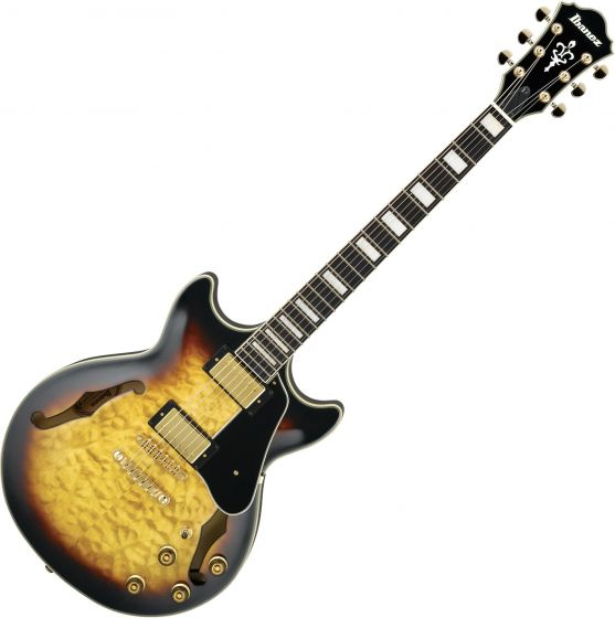 Ibanez Arctore Expressionist AM93 Hollow Body Electric Guitar Antique Yellow Sunburst AM93AYS