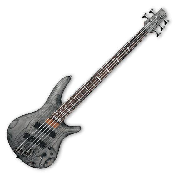 Ibanez SRFF805-BKS SR Workshop Series 5 String Multi-Scale Electric Bass in Black Stained Finish SRFF805BKS