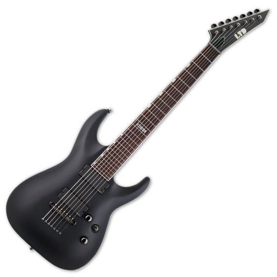ESP LTD MH-417 Guitar in Black Satin B stock sku number LMH417BLKS.B