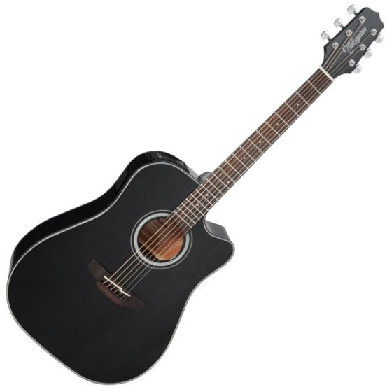Takamine GD30CE-BLK G-Series G30 Acoustic Electric Guitar in Black Finish TAKGD30CEBLK