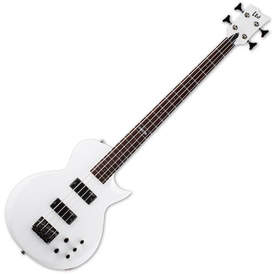 ESP LTD EC-154 Electric Bass in Snow White LEC154SW