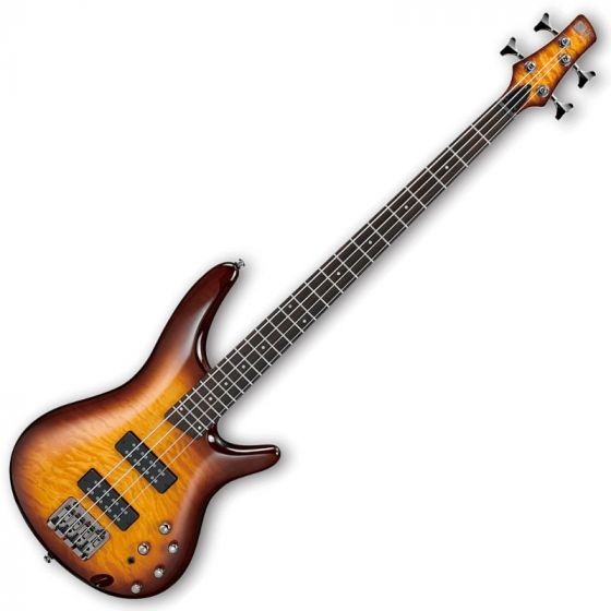 Ibanez SR400EQM-BBT SR Series Electric Bass in Brown Burst Finish SR400EQMBBT