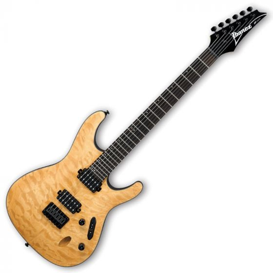Ibanez S621QM-VNF S Series Electric Guitar in Vintage Natural Flat Finish S621QMVNF