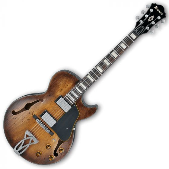 Ibanez Artcore Vintage AGV10ATCL Hollow Body Electric Guitar in Tobacco Burst Low Gloss Finish AGV10ATCL