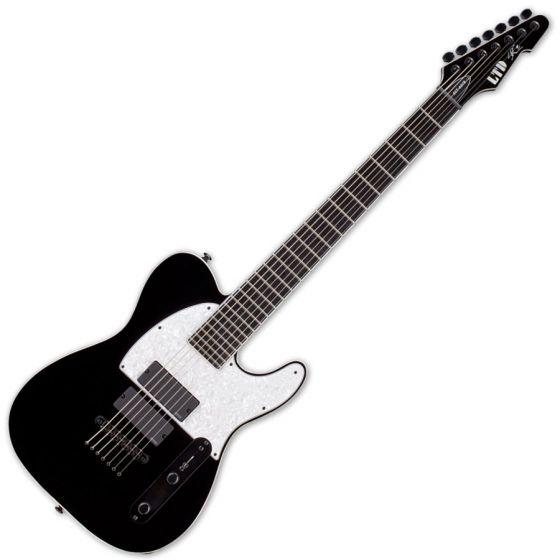 ESP LTD SCT-607B Stephen Carpenter Baritone Electric Guitar in Black sku number LSCT607BBLK