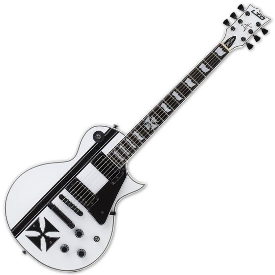 ESP LTD Iron Cross Snow White James Hetfield Guitar with Case sku number LIRONCROSSSW