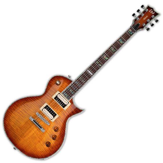 ESP LTD Deluxe EC-1000FM Duncan Amber Sunburst Guitar LEC1000ASB