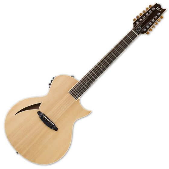 ESP LTD TL-12 12-String Acoustic Electric Guitar in Natural Finish LTL12NAT
