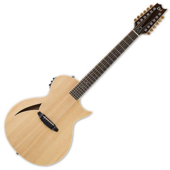 ESP LTD TL-12 12-String Acoustic Electric Guitar in Natural Finish sku number LTL12NAT