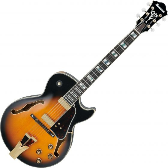 Ibanez Signature George Benson GB10SE Hollow Body Electric Guitar in Brown Sunburst with Case GB10SEBS
