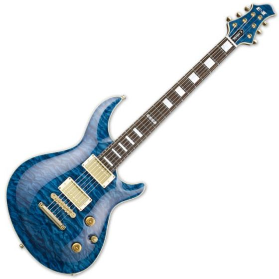 ESP E-II Mystique QM/NT Marine Blue Electric Guitar EIIMYSTQMNTMB