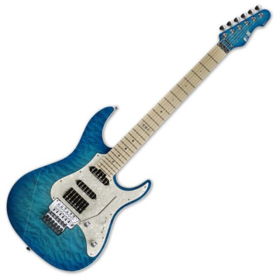 ESP E-II ST-1 QM LH Maple AQM Aqua Marine Electric Left Handed Guitar sku number EIIST1QMAQMLH