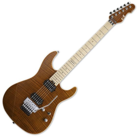 ESP E-II ST-2 FM TE Maple Fretboard Tiger Eye Finish Electric Guitar EIIST2FMTE