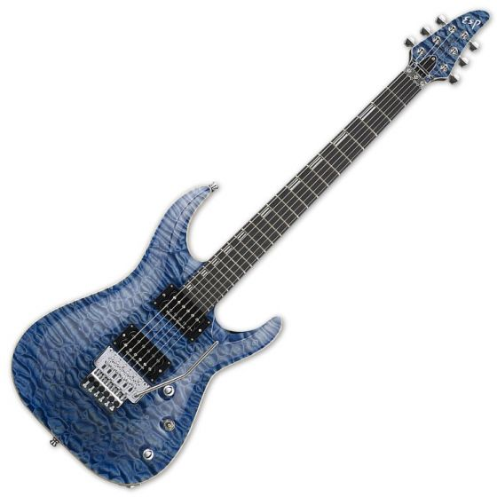 ESP Horizon FR CTM Electric Guitar in Faded Sky Blue EHORFRCTMFSB