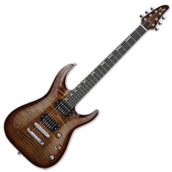 ESP Horizon NT CTM Electric Guitar in Antique Brown Sunburst EHORNTCTMABSB
