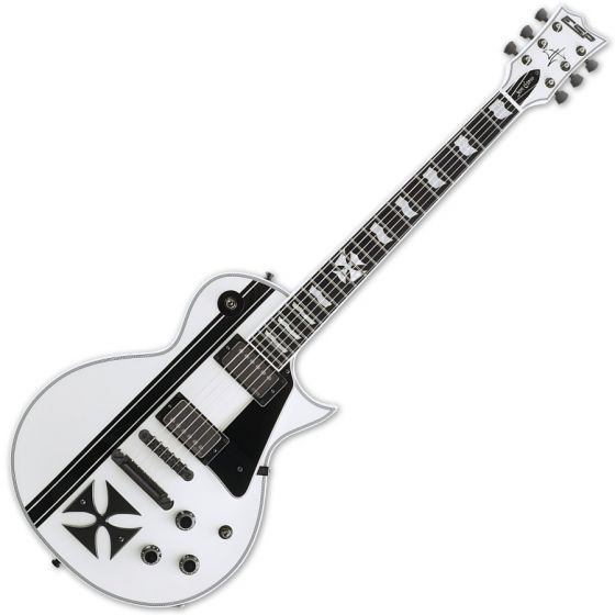 ESP Iron Cross Snow White James Hetfield Guitar with Case sku number EIRONCROSSSW