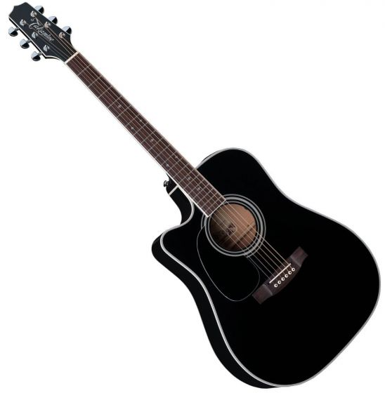 Takamine EF341SC Left Handed Acoustic Guitar in Gloss Black Finish TAKEF341SCLH
