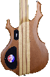 ESP LTD F-5E Electric Bass in Natural Satin B-Stock LF5ENATS.B